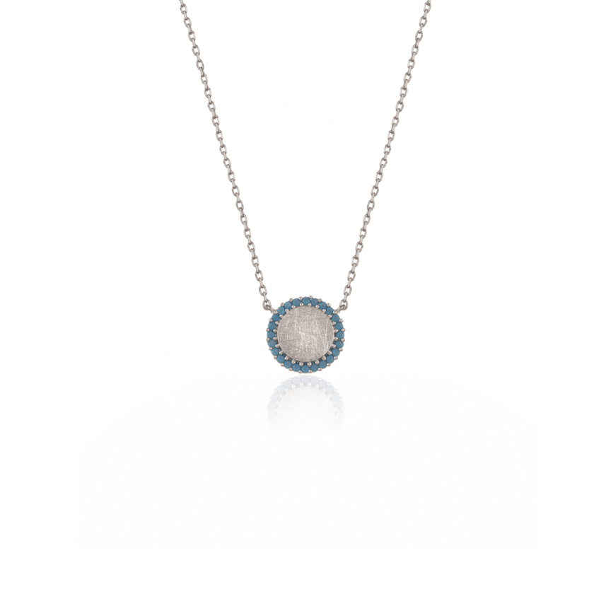 Silver Riviera Dainty Disc Necklace