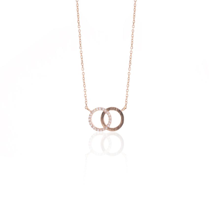 Rose Gold Pave Link Necklace