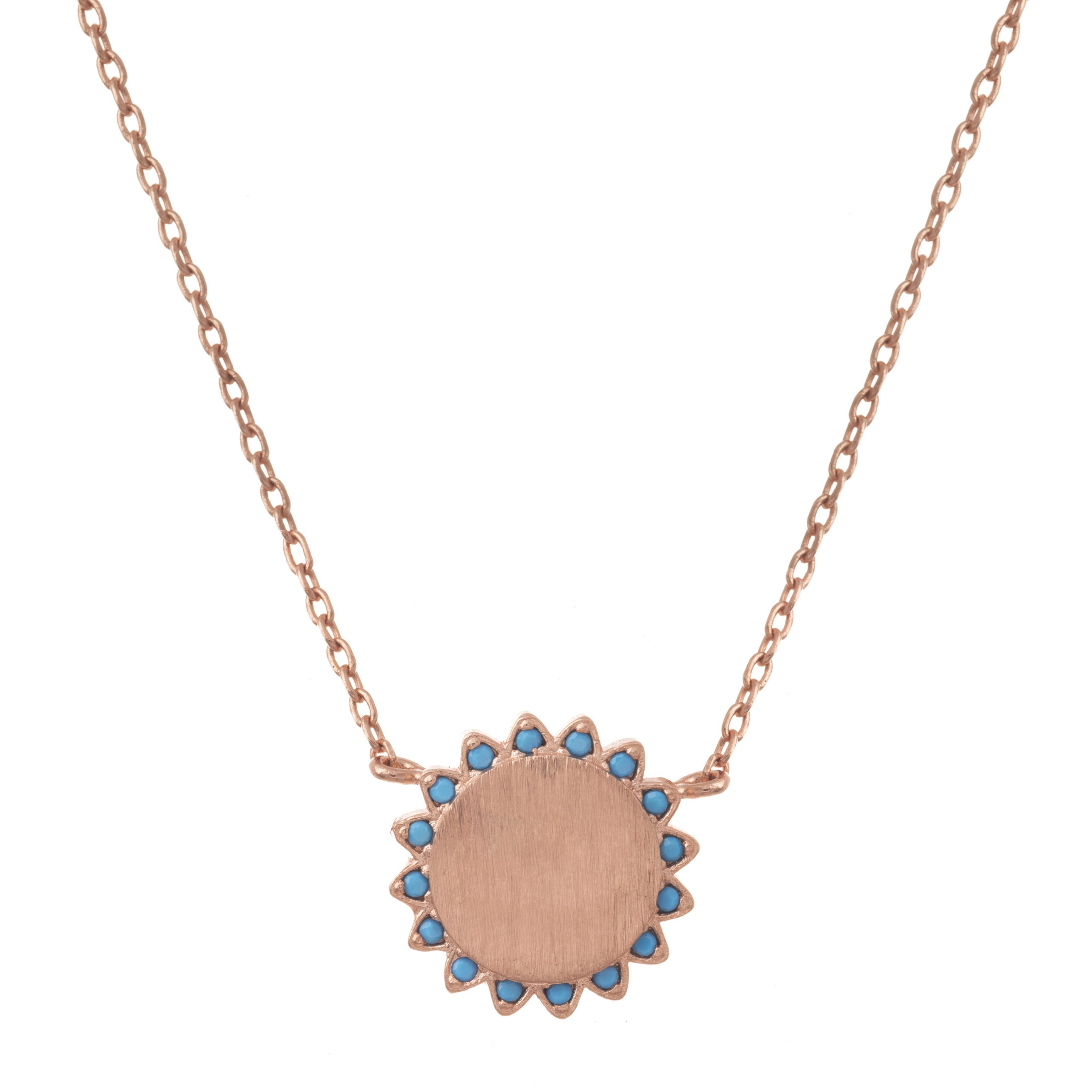 Rose Gold Rivieria Sun Necklace
