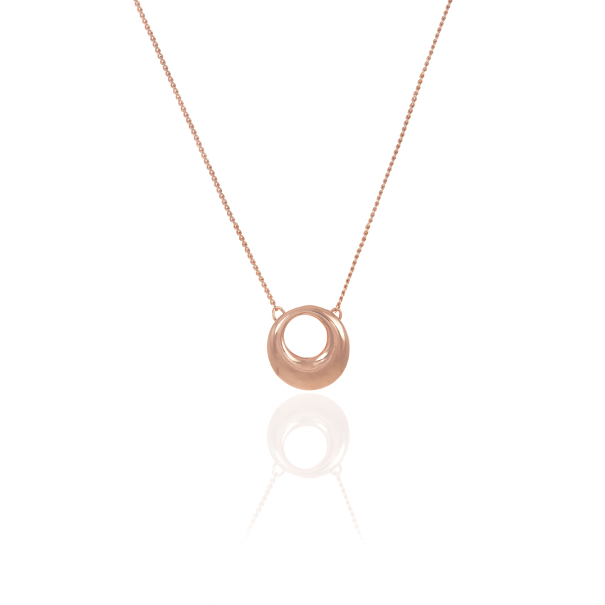 Rose Gold Cameo Circle Necklace