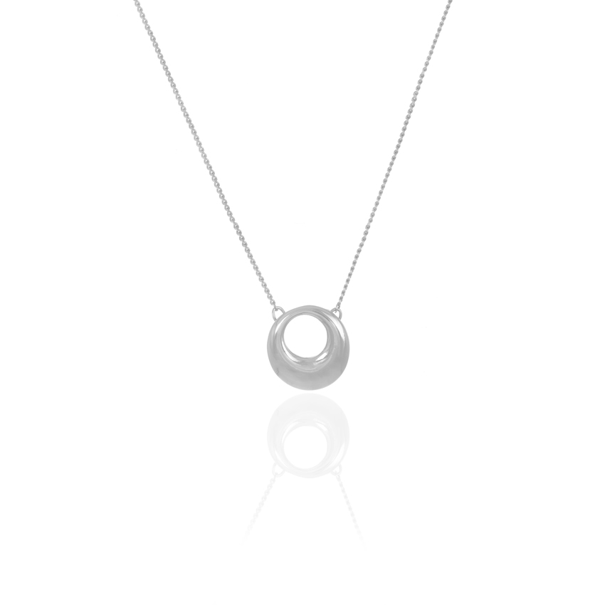 Silver Cameo Circle Necklace