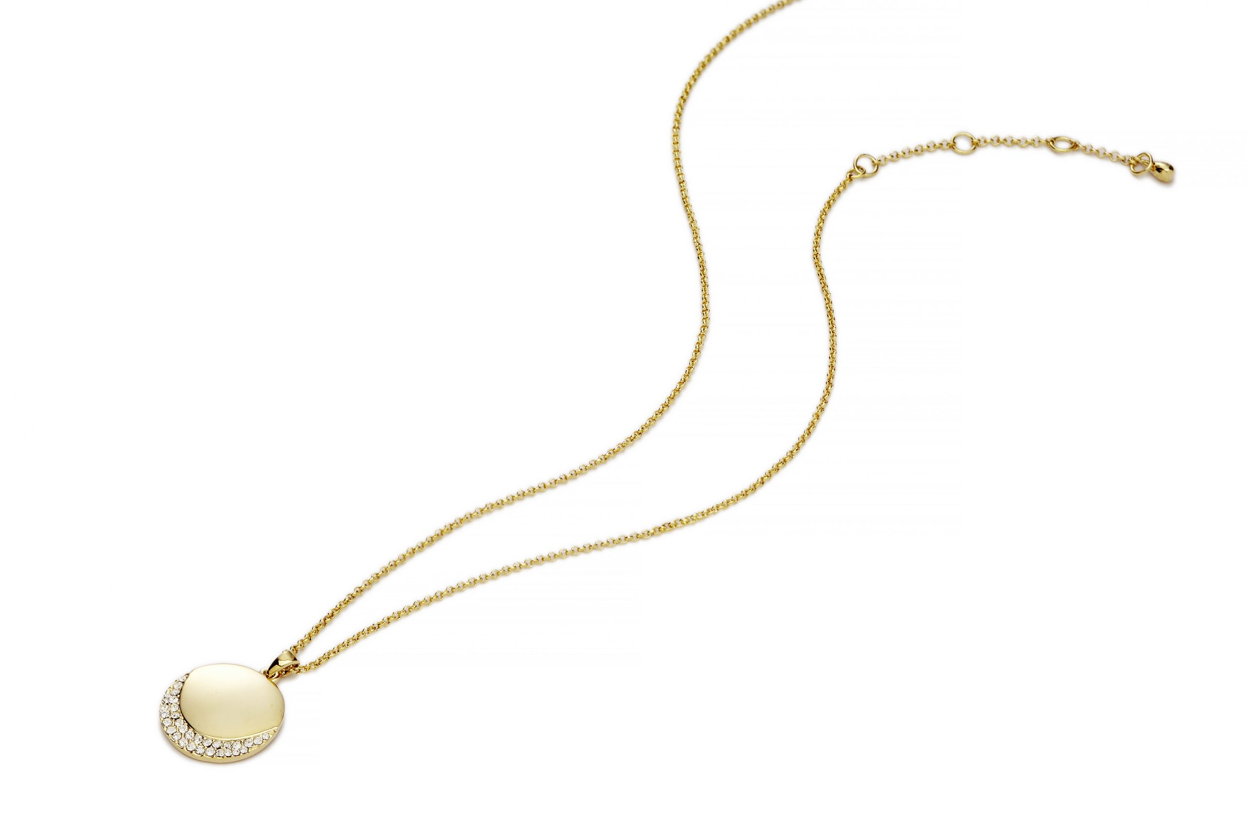 GOLD Gold Crescent Necklace