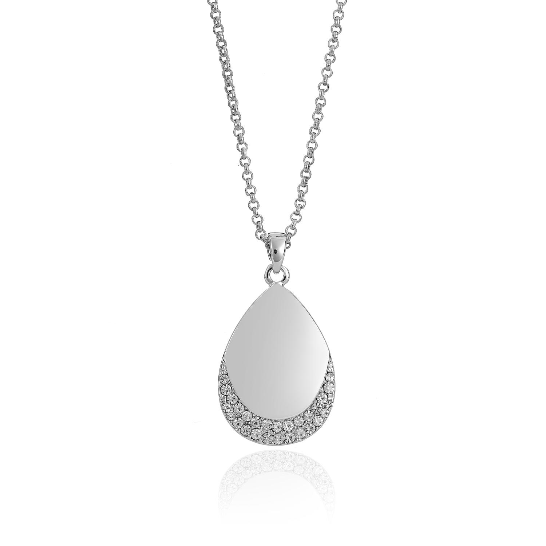 Cameo Silver Teardrop Necklace