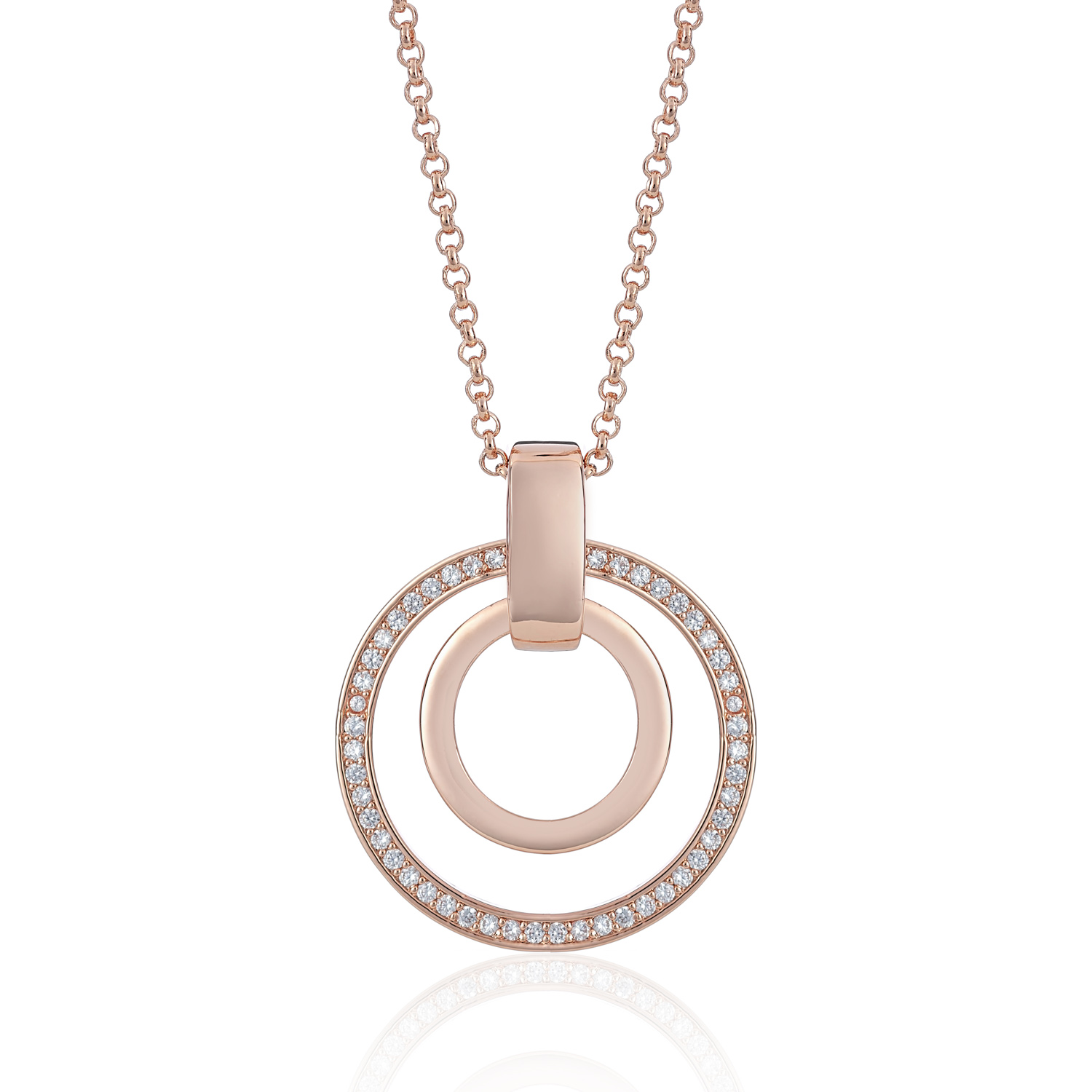 Cameo Rose Gold Circle Sync Necklace