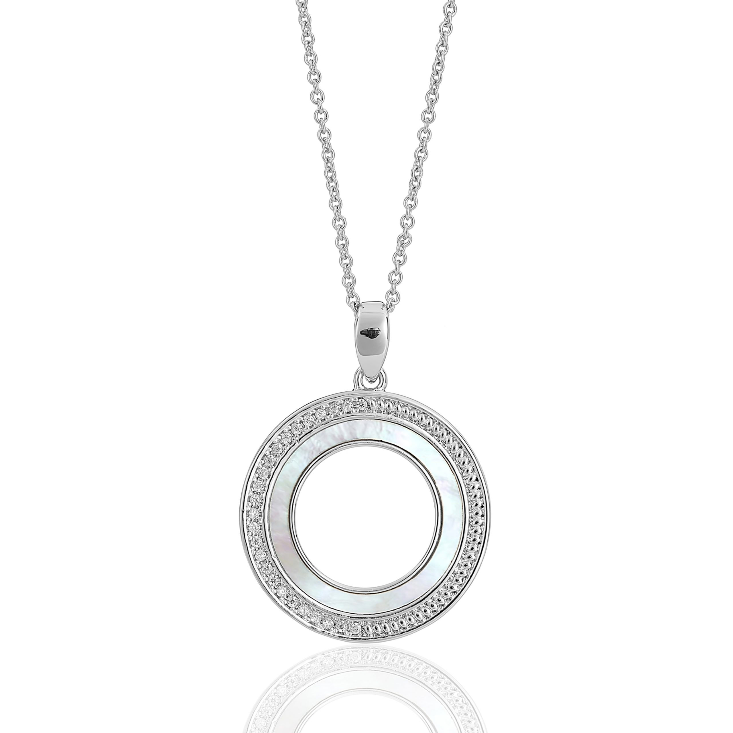 Silver Cameo Revolve Necklace