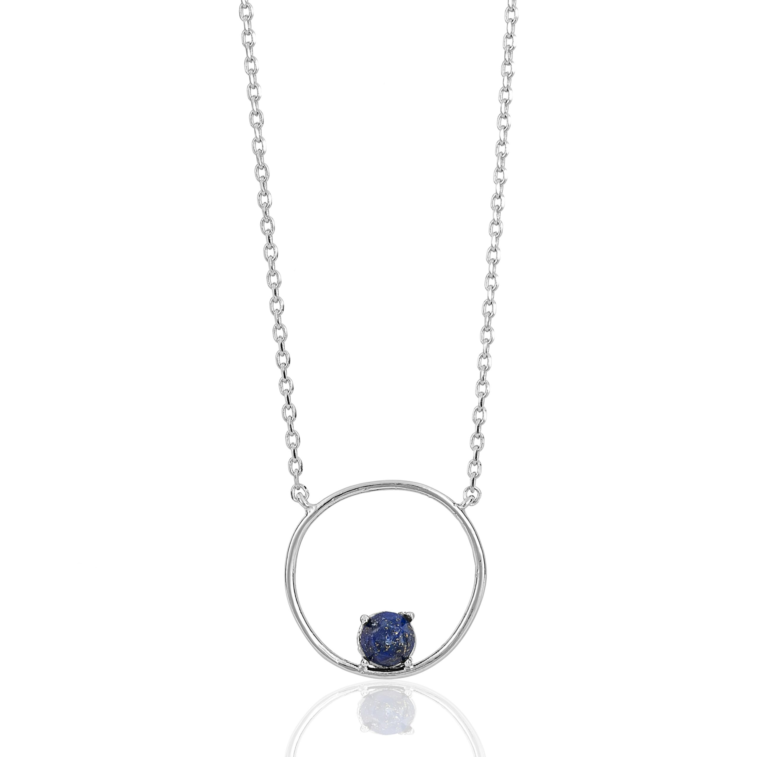 Silver Cosmic Midnight Blue Cirque Necklace