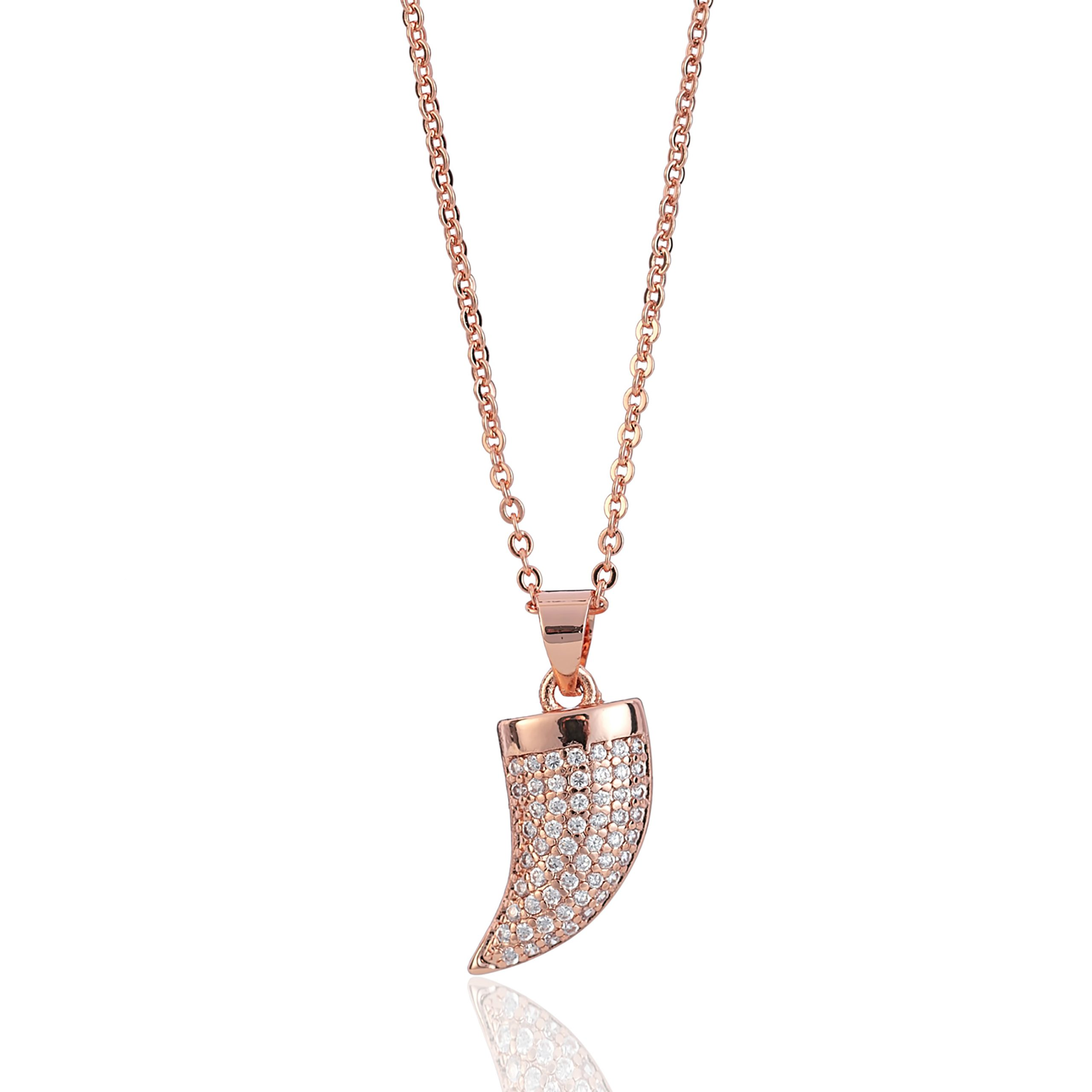 Rose Gold Wonderlust Crystal Hook Necklace