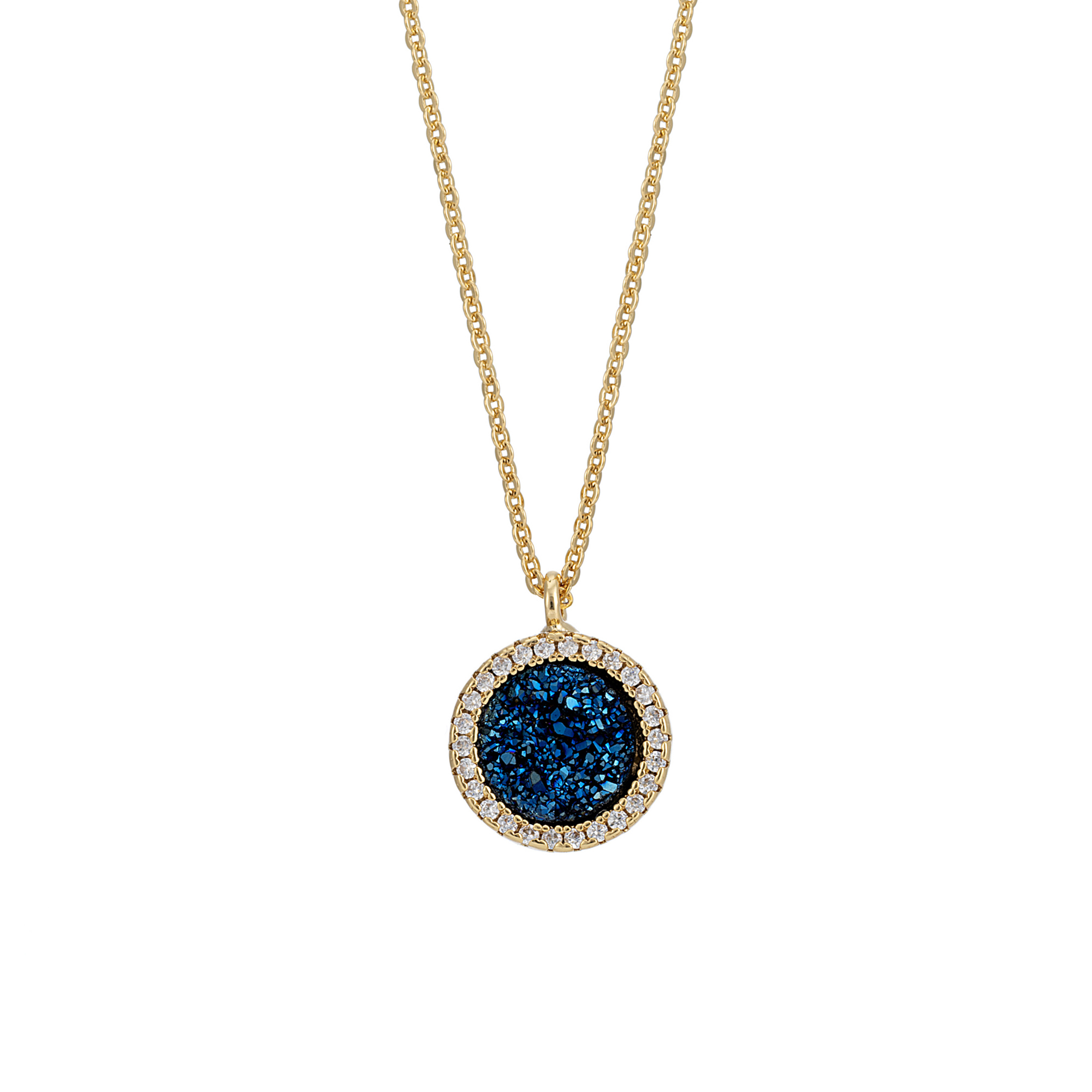 Starlet Midnight Circle Necklace