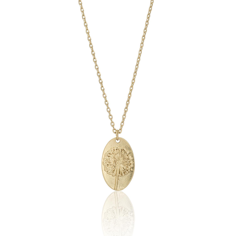 GOLD Enchanted Forest Dandelion Necklace