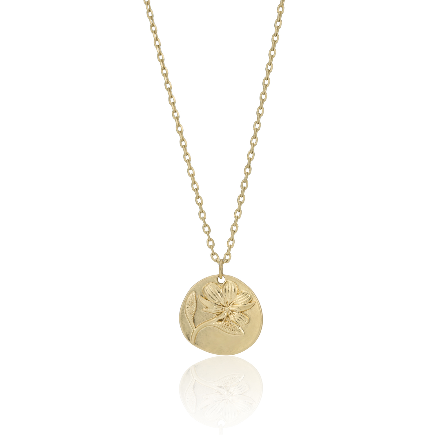 GOLD Enchanted Forest Floral Necklace