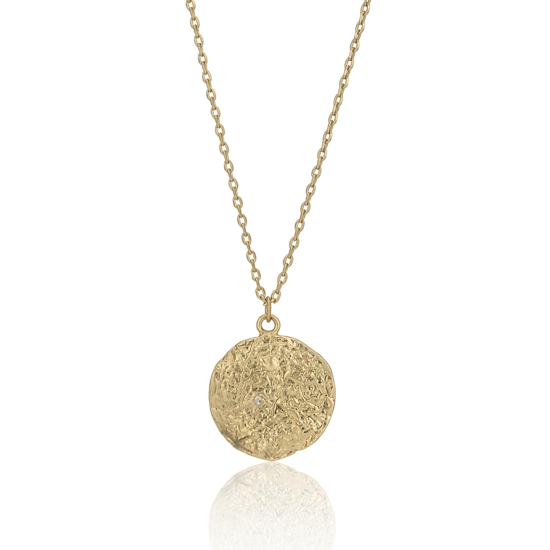 GOLD Enchanted Treasure Molten Coin Necklace