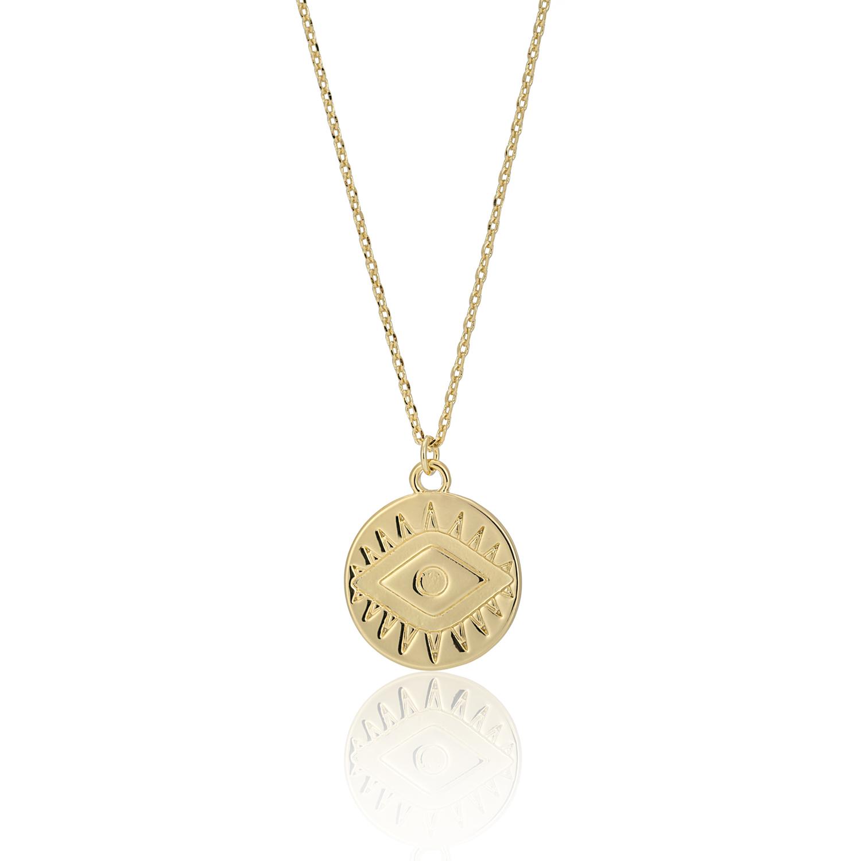 GOLD Enchanted Treasure Evil Eye Necklace