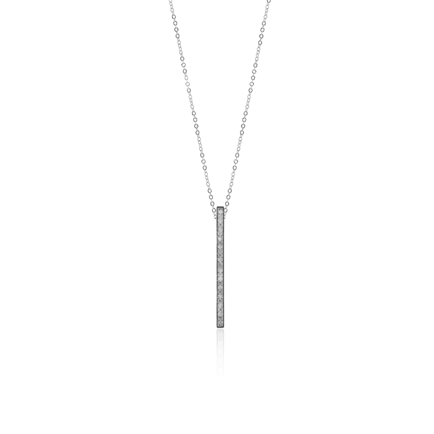 Silver Deco Drop Necklace