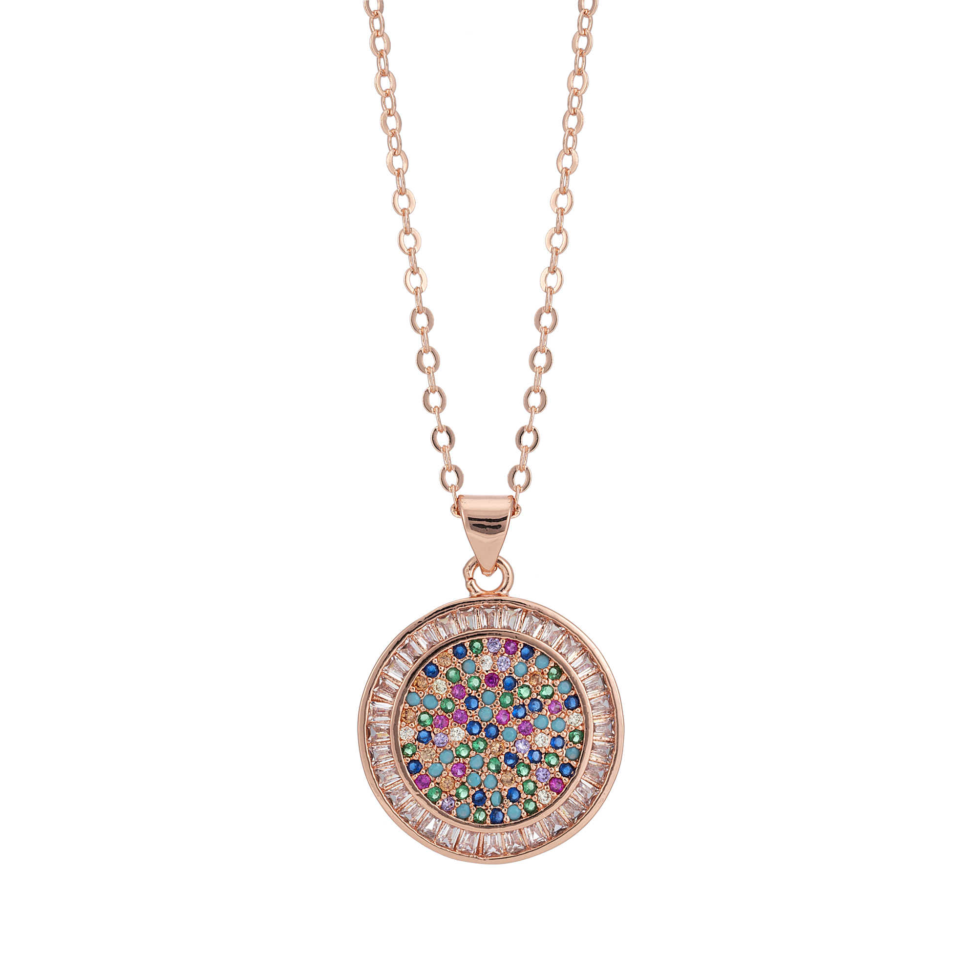 Rose Gold Over The Rainbow Pendant