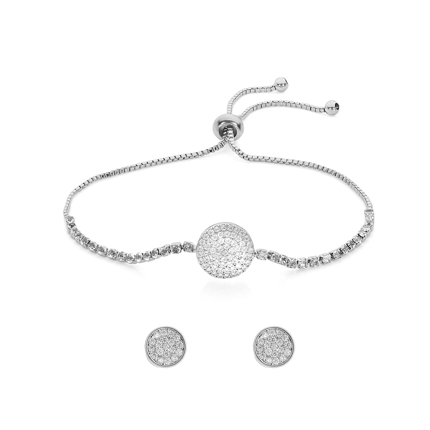 SILVER Arena Toggle Bracelet Gift Set