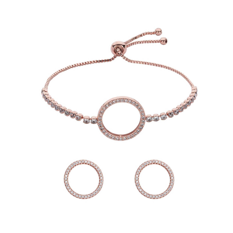 ROSE GOLD Horizon Toggle Bracelet Gift Set