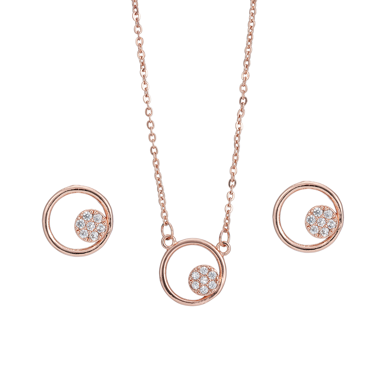 ROSE GOLD Embrace Crystal Gift Set