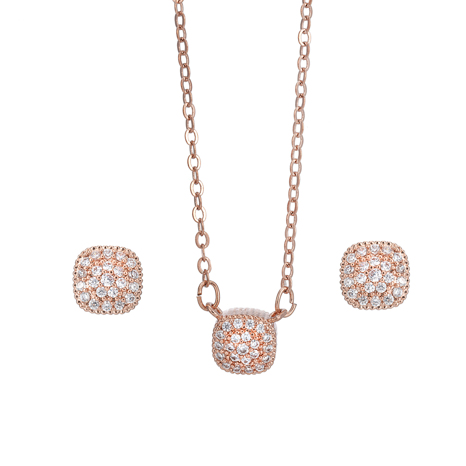ROSE GOLD Dainty Cube Gift Set