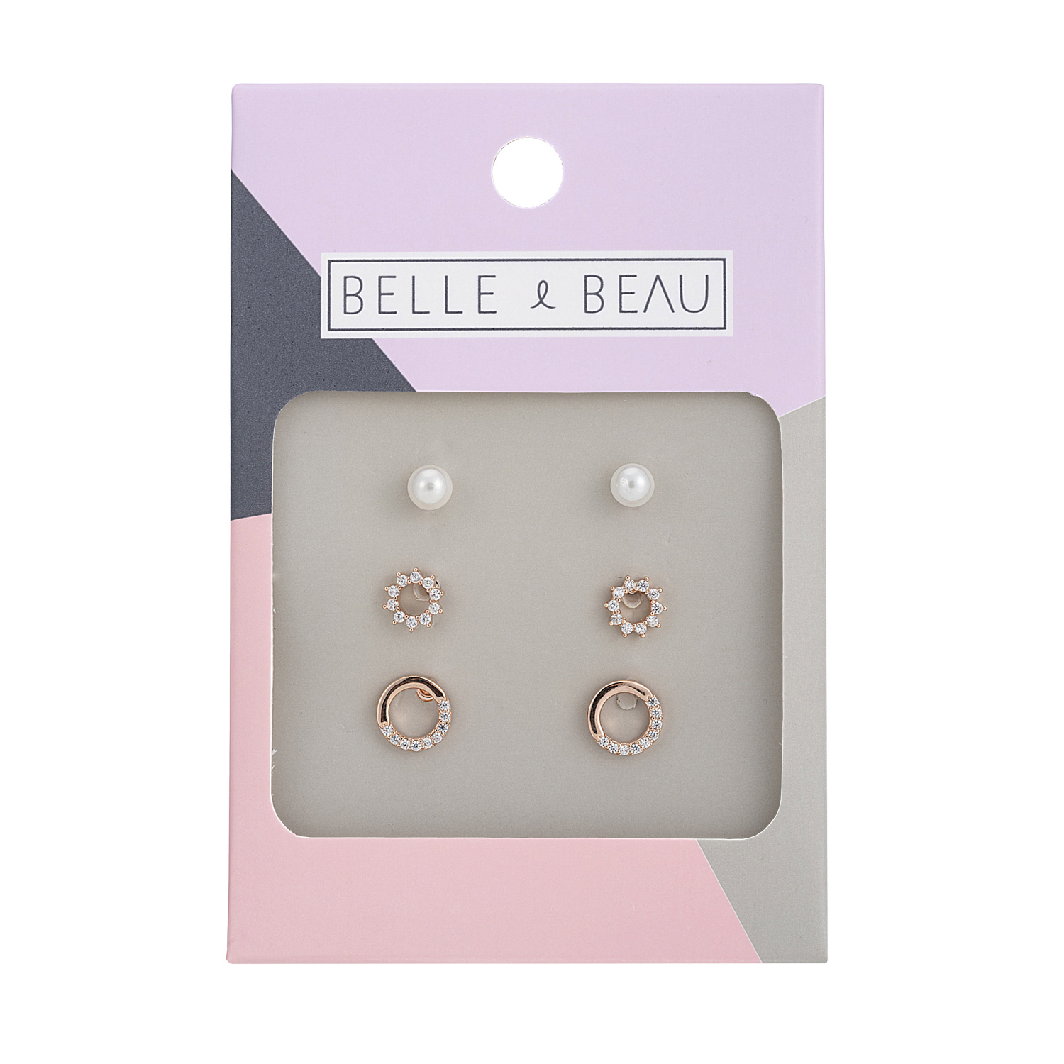 ROSE GOLD Cocktail Cosmos Earring Set