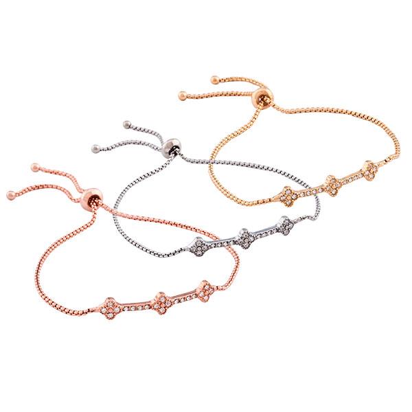Ornate Triple Set Bracelet