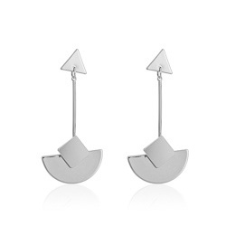 SILVER Be Bold Silver Geo Curve Earrings