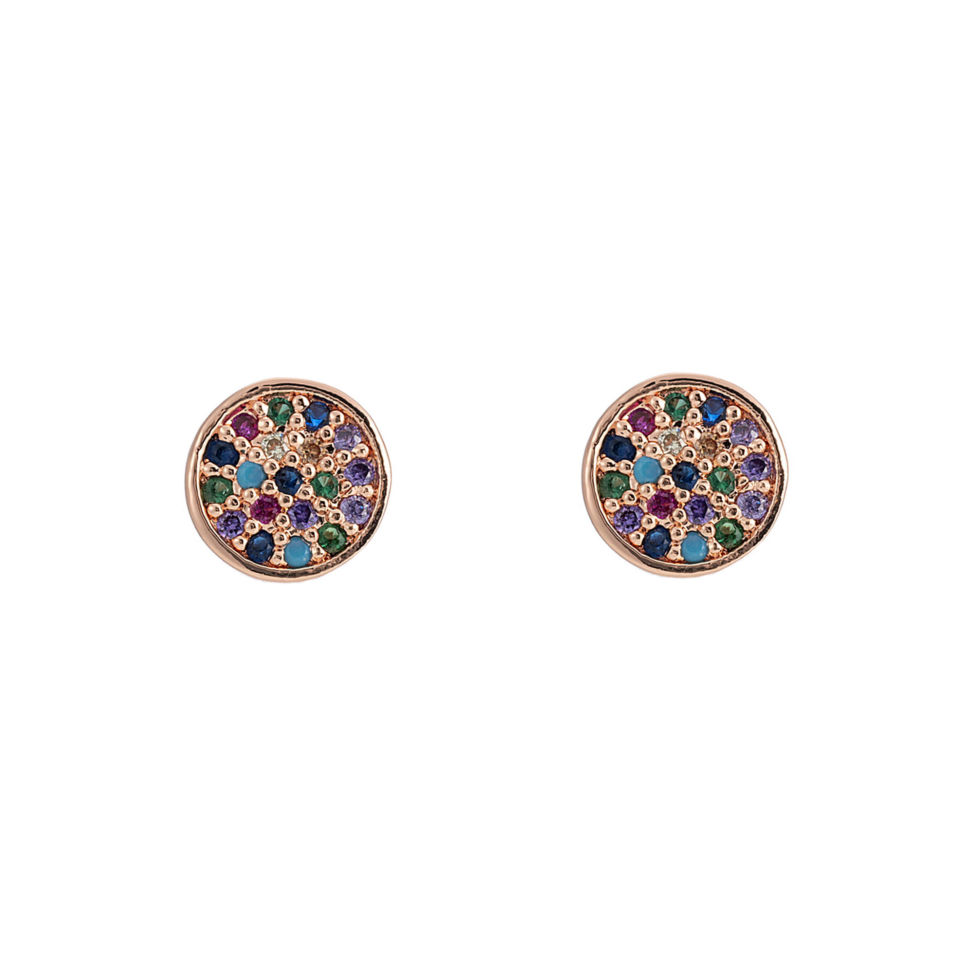 Over The Rainbow Earrings Rose Gold