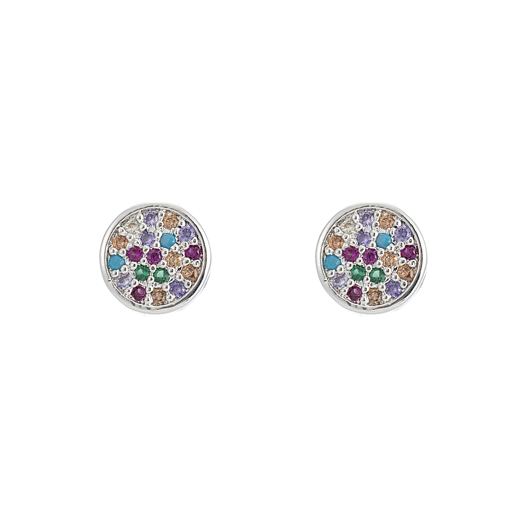 Over The Rainbow Earrings Silver