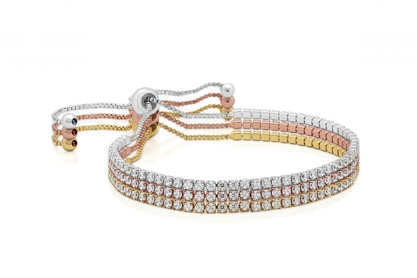Serena Crystal Toggle Triple Bracelet Set