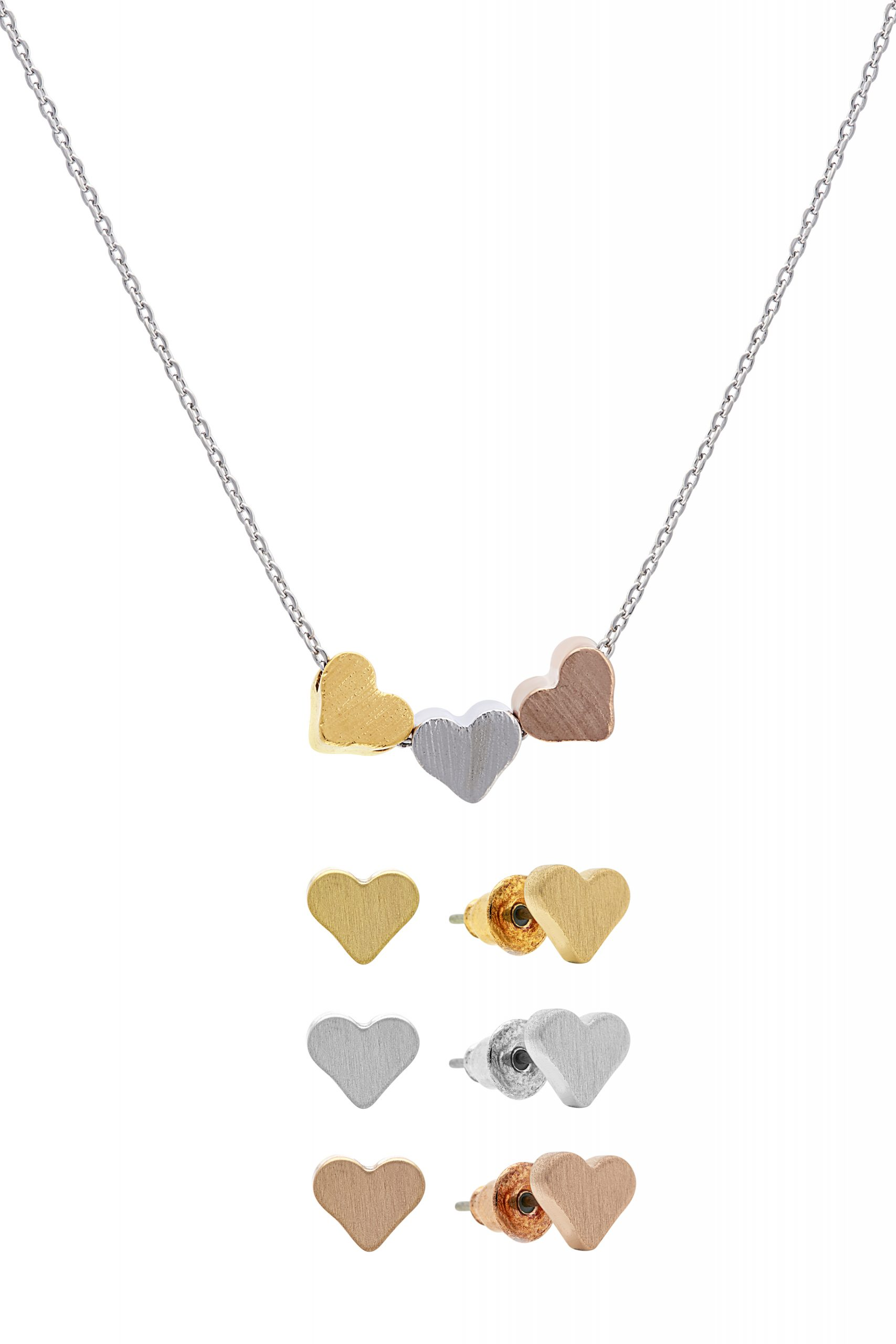 Heart And Soul Necklace and Earrings Set