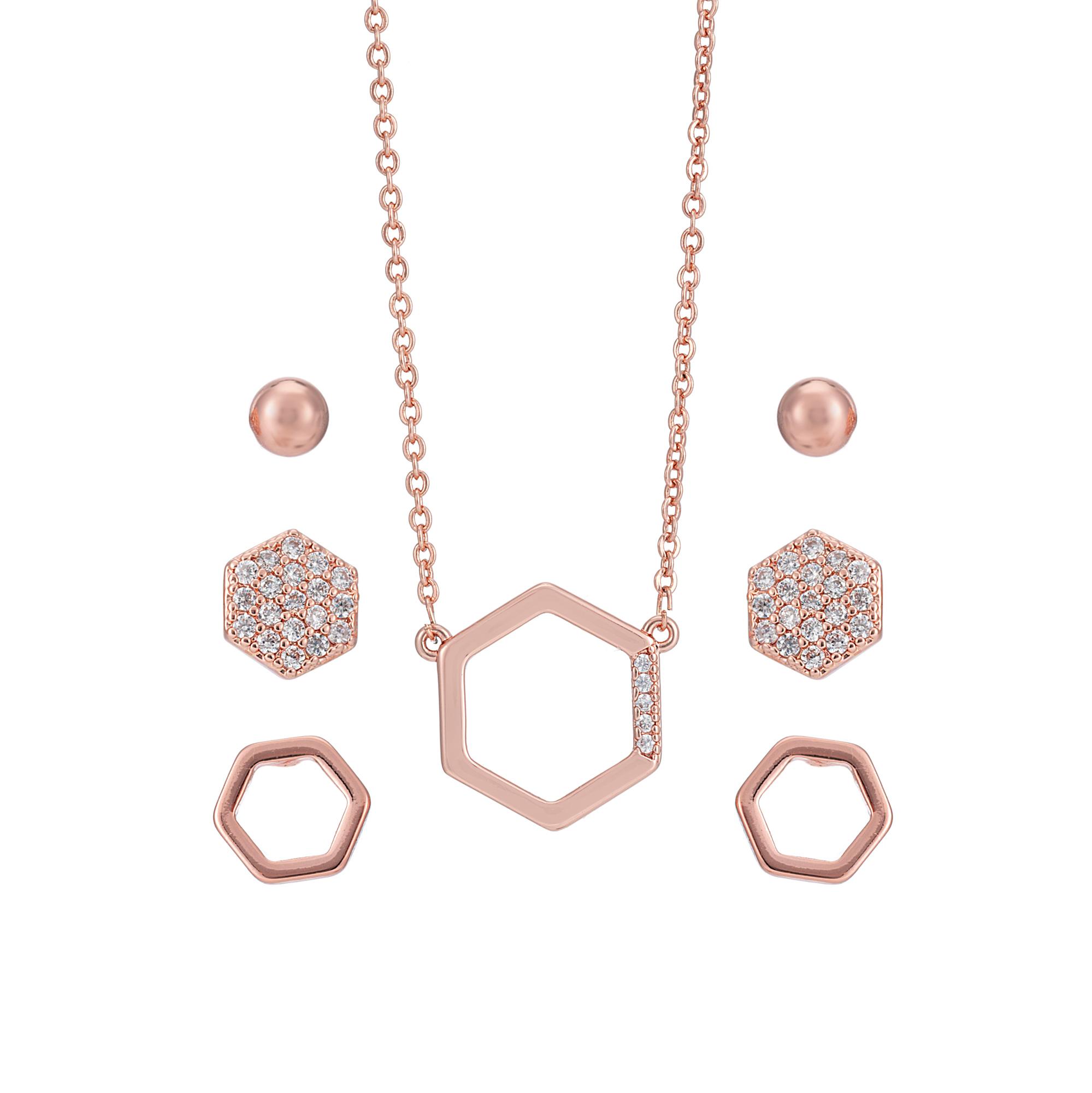 Rose Gold Deco Hexagon Set