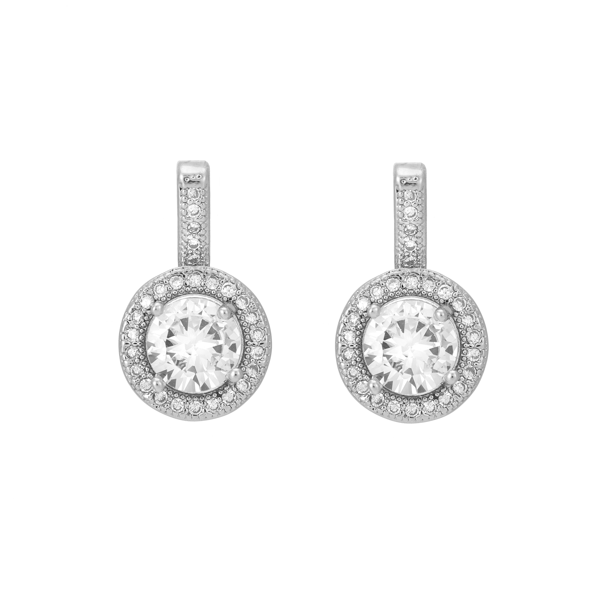 Silver Classic Circle Drop Earring