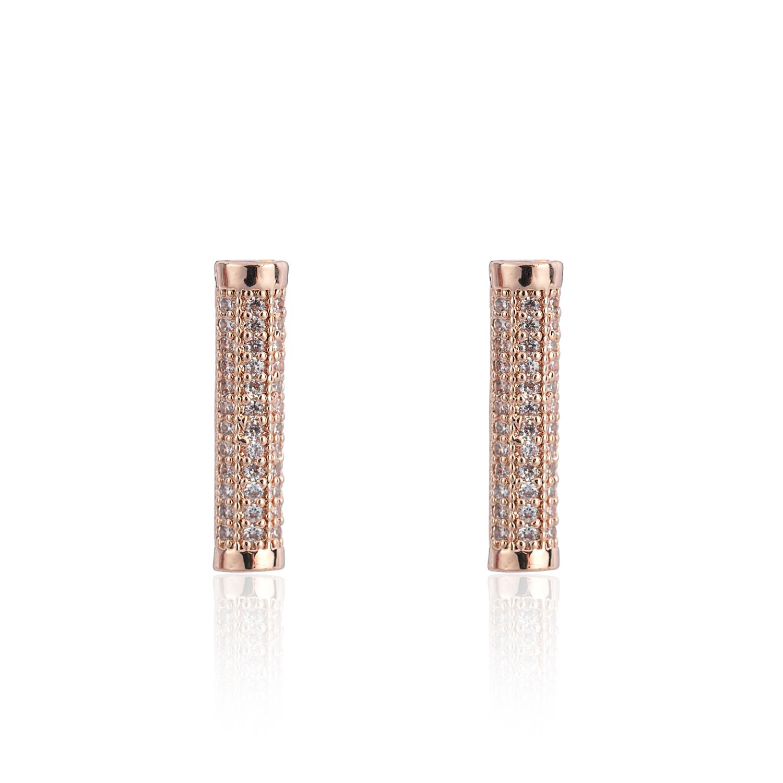 Rose Gold Eternal Bar Earrings