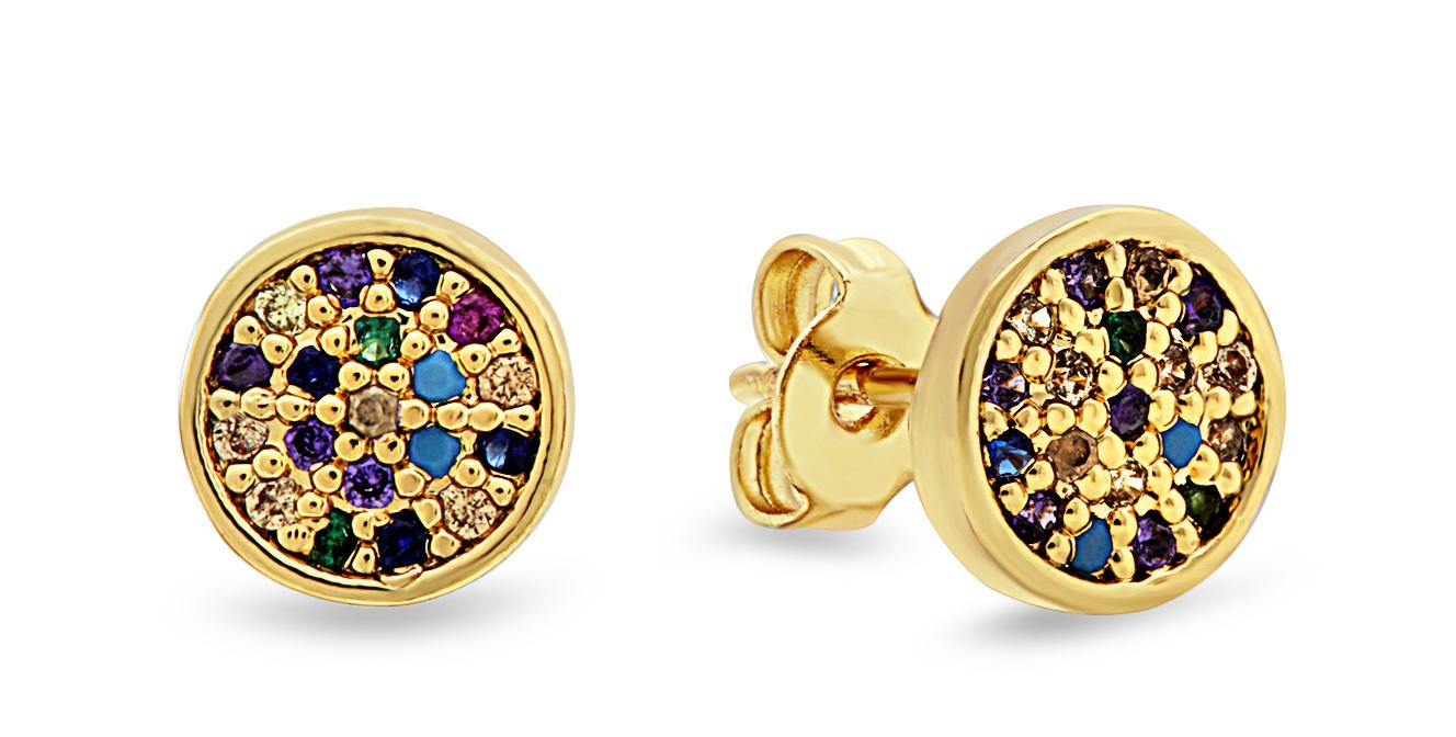Gold Over The Rainbow Earrings