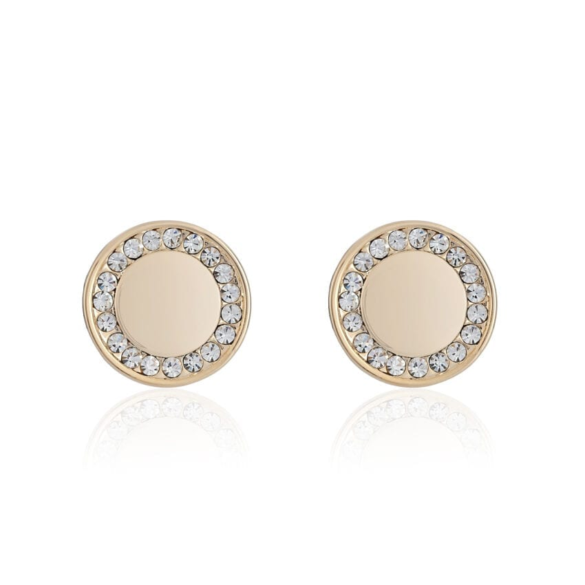 Cameo Gold Small Disc Earrings
