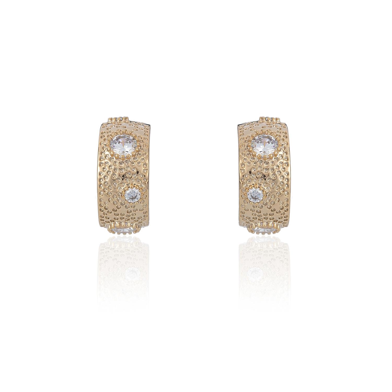 Gold Dust Hoop Earrings