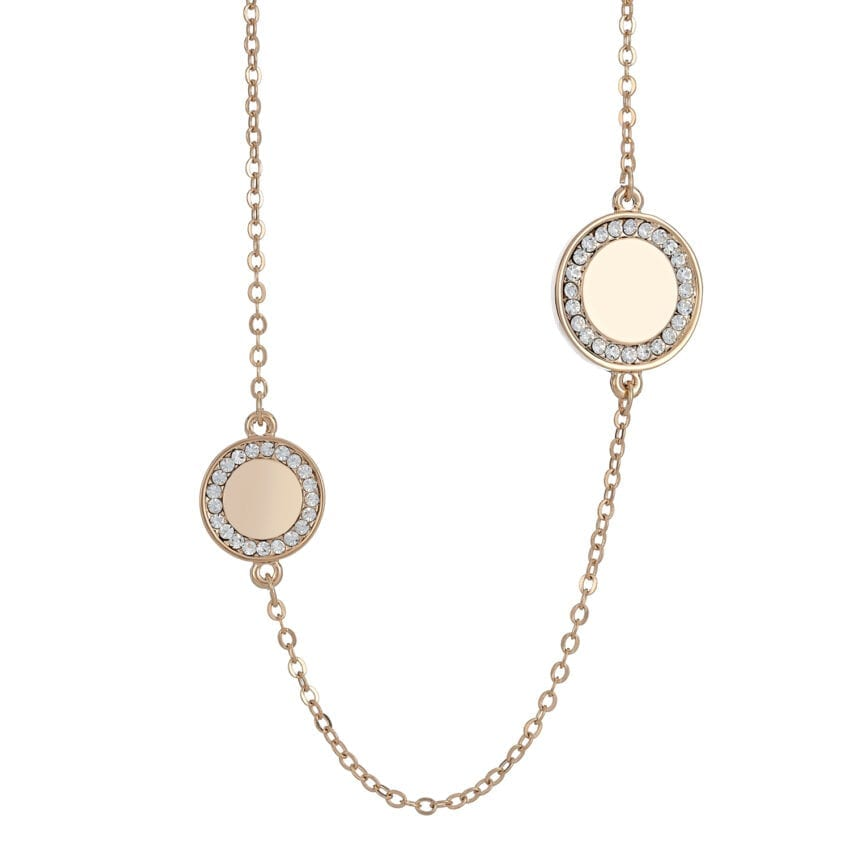 Cameo Long Disc Necklace