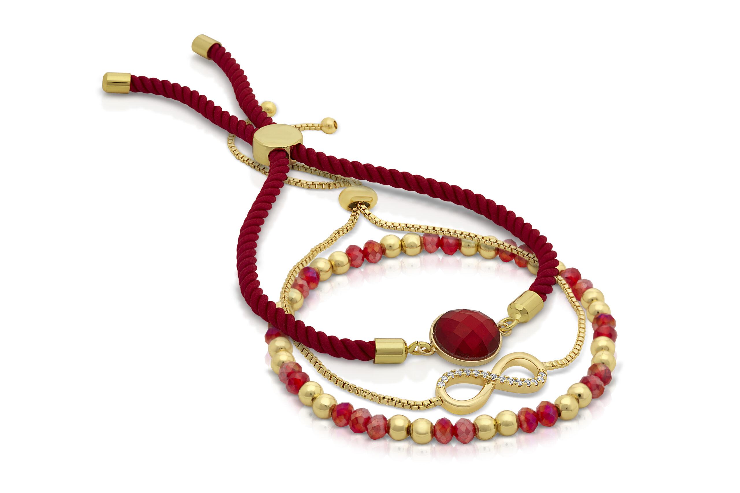 Pink Serenity Cerise Bracelet Set