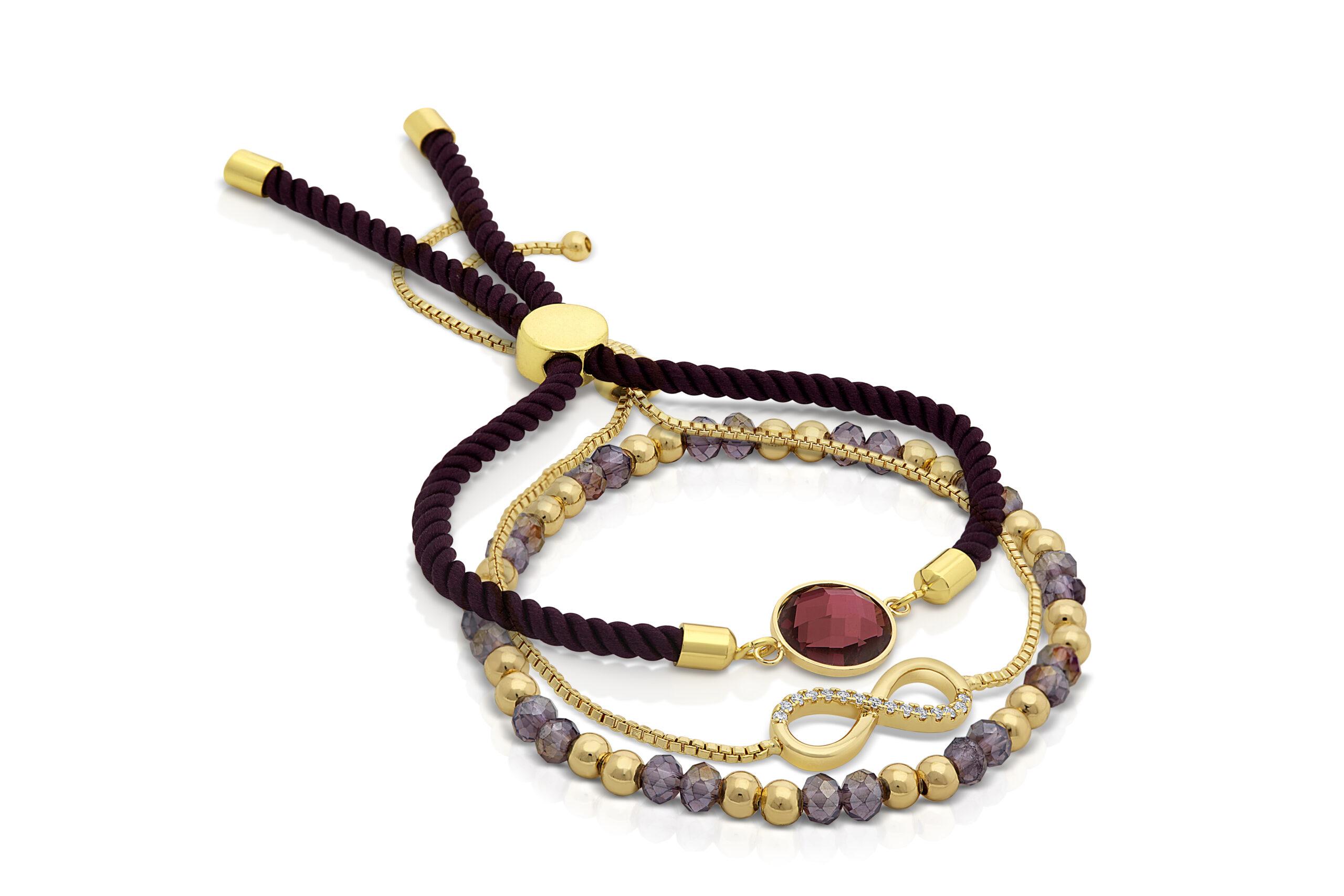 Purple Serenity Indigo Bracelet Set