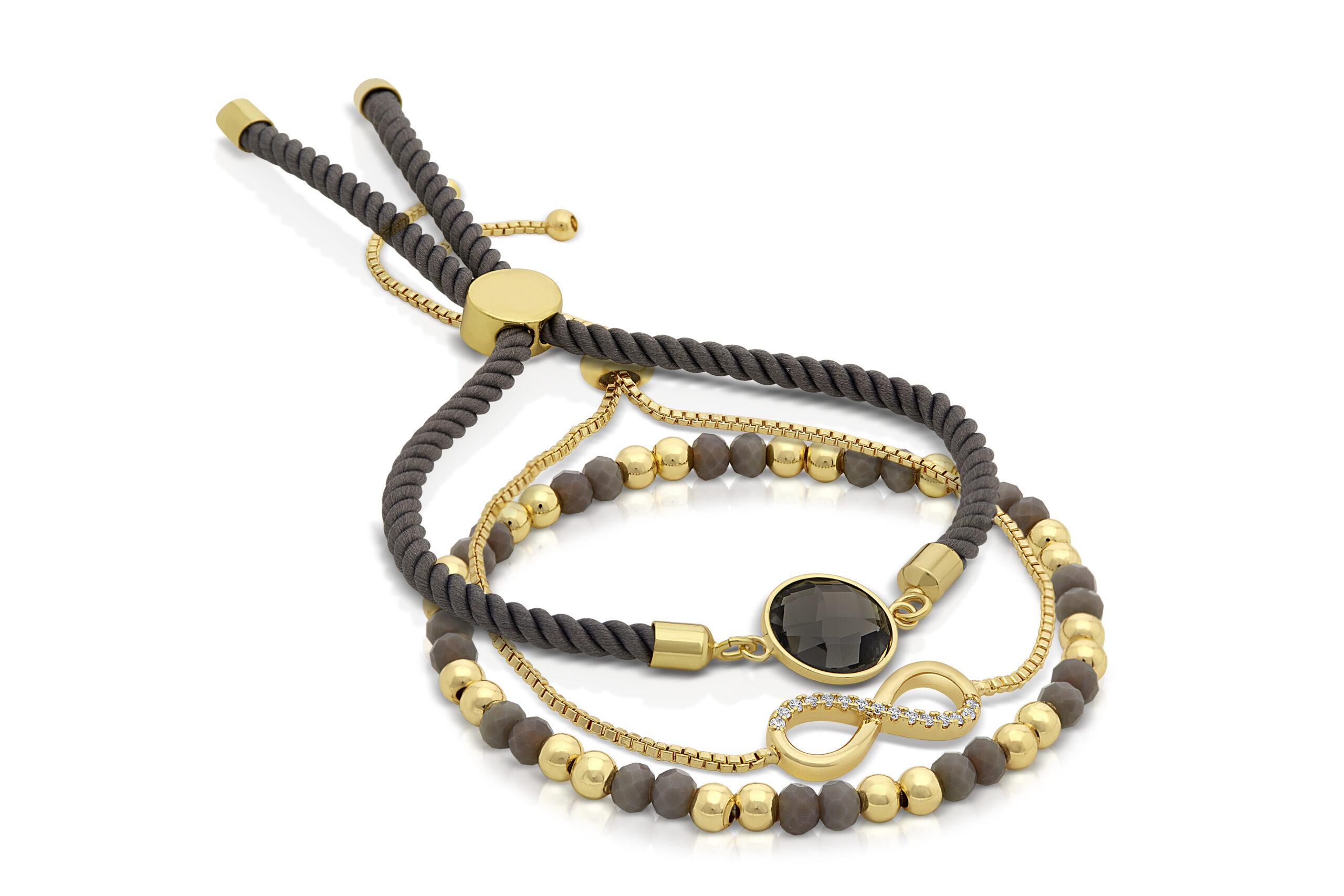 Grey Serenity Iris Bracelet Set